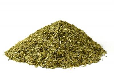 Mateblätter yerba grün geschnitten